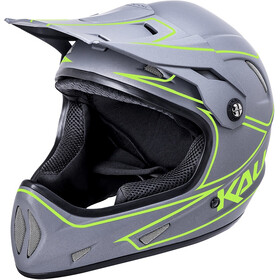 Kali Alpine Casco Hombre, matte grey/neon yellow